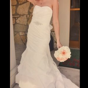 Ivory fit and flair bridal gown